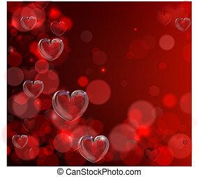 cuore, giorno valentines, fondo