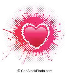cuore, grunge, macchia