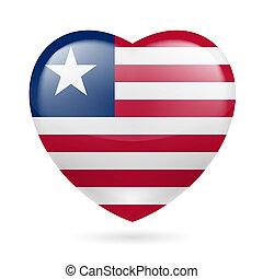 cuore, icona, liberia