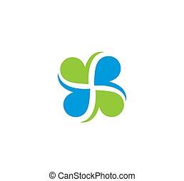 cuore, icona, squadra, amore, vettore, forma, logotipo, lavoro, foglia, relazione