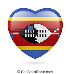 cuore, icona, swaziland