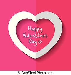 cuore, illustrazione, valentina, s, vettore, giorno