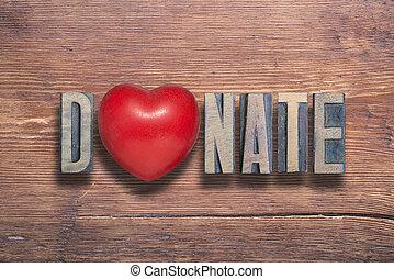 cuore, legno, donare