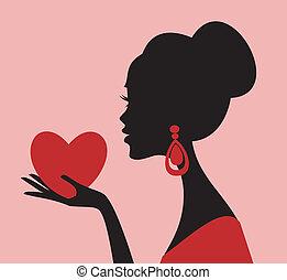 cuore, lei, mio, dare