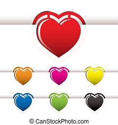cuore, libro, marchio
