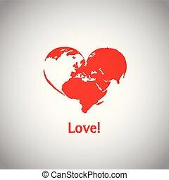 cuore, -, love!, mondo