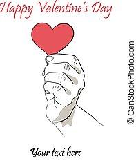 cuore, mano, sinistra