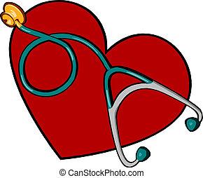 cuore, medico, stetoscopio