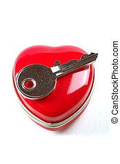 cuore, mio, chiave