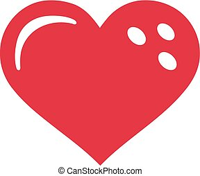 cuore, palla, bowling
