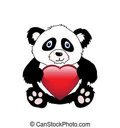 cuore, panda