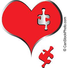 cuore, pezzo enigma, mancante