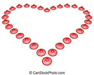 cuore, preservativo