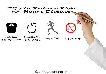 cuore, punte, ridurre, rischio, malattia