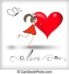 cuore, ragazza