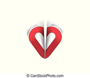 cuore, riccio, carta, giorno, valentine