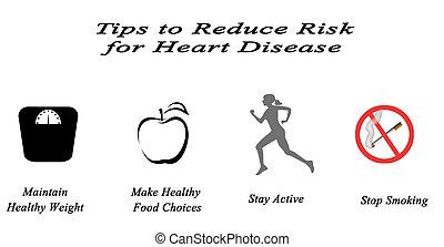 cuore, ridurre, rischio, malattia, punte