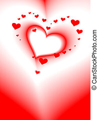 cuore, romantico, scheda, vettore, valentine\'s, giorno