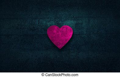 cuore, rosa, forma