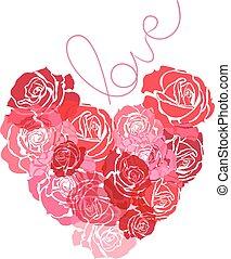 cuore, rose