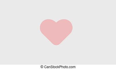 cuore rosso, animazione