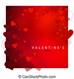 cuore rosso, fondo, per, giorno valentine