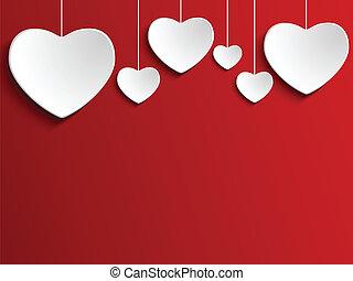 cuore, rosso, giorno, fondo, valentina