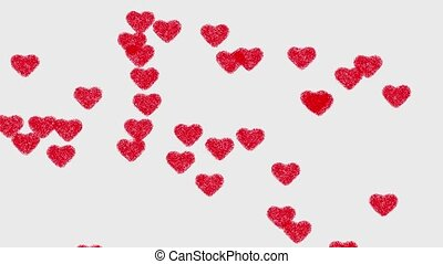 cuore rosso, sfondo animazione