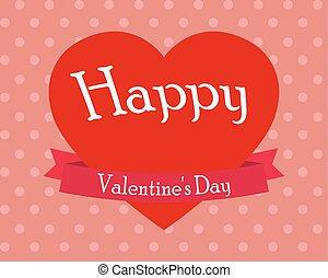 cuore, s, vettore, giorno, valentina