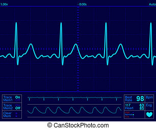 cuore, schermo, monitor
