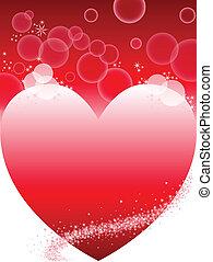 cuore, sfondo rosso