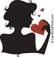 cuore, silhouette