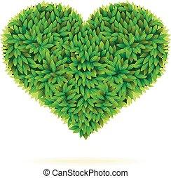 cuore, simbolo, congedi verdi