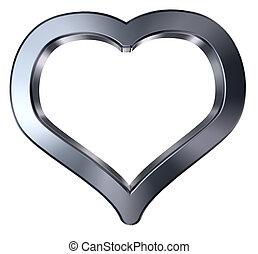 cuore, simbolo, -, interpretazione, fondo, bianco, 3d