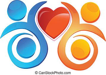 cuore, squadra, logotipo