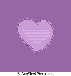 cuore, su, imporpori sfondo