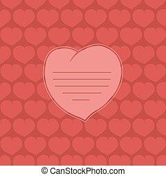 cuore, su, sfondo rosso