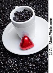 cuore, tazza caffè