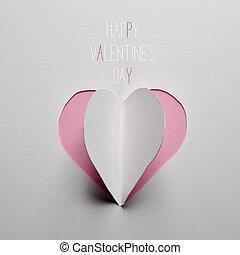 cuore, testo, valentines, carta, giorno, felice