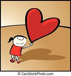 cuore, tuo, grande, come