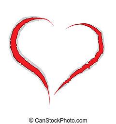 cuore, valentina, graffio, artigli