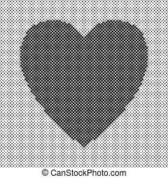 cuore, valentine, modellato, -, vettore, disegno, fondo, giorno