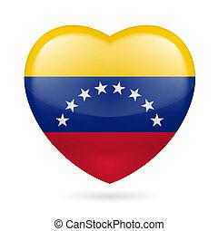 cuore, venezuela, icona