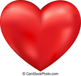 cuore, vettore, baluginante, 3d