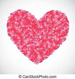 cuore, vettore, fondo, illustrazione