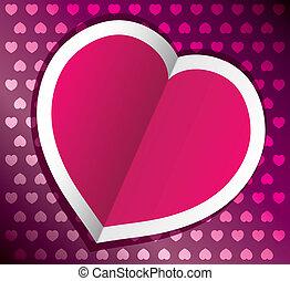 cuore, vettore, giorno, valentine