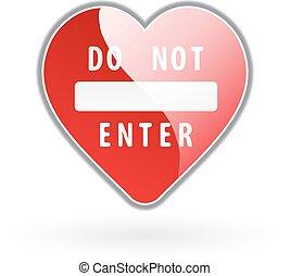 cuore, vettore, illustrazione, segno