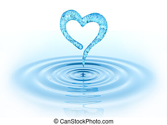 cuore, waterdrop