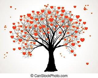 cuori, albero, valentina