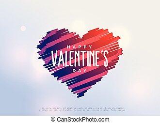 cuori, creativo, scarabocchio, giorno, valentine